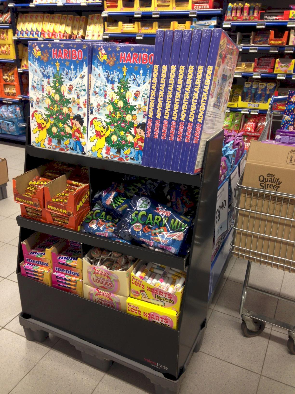 Klager på utstillingen av Haribo julekalendre og Kinder sjokolade ble ikke tatt til følge. FOTO: MFU