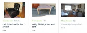 På Finn er det per nå i underkant av 8000 annonser under gis bort. FOTO: Skjermdump fra finn.no
