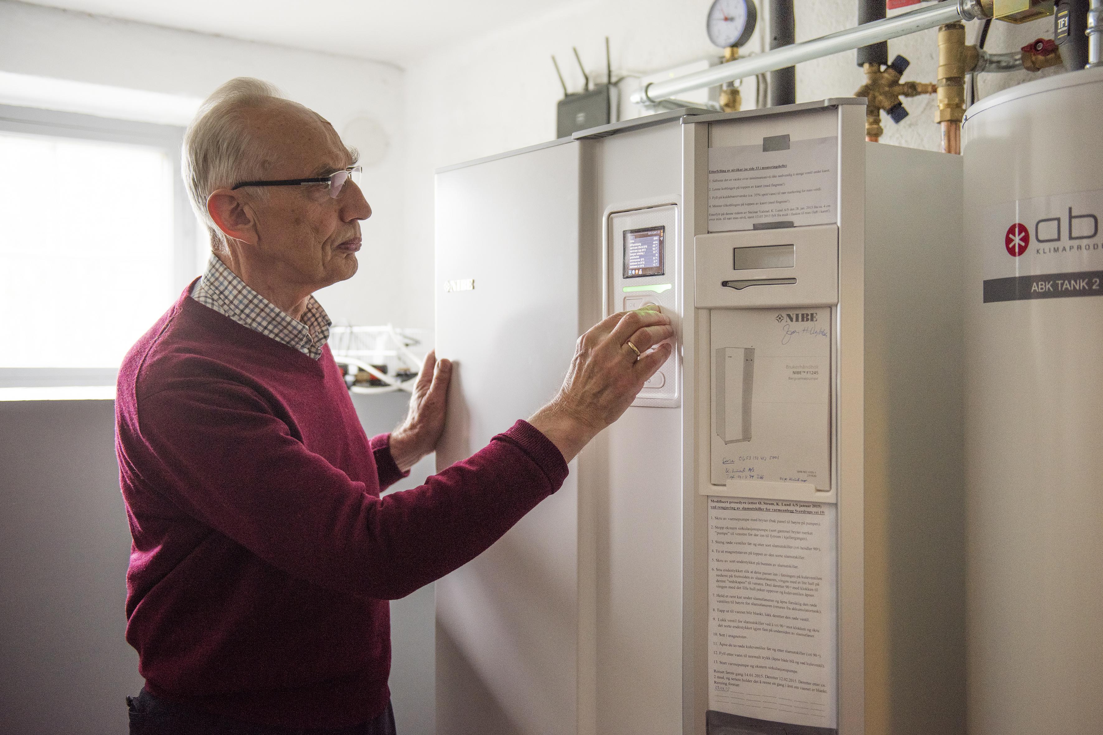 Pensjonert overlege Jan Helge Dybdahl. FOTO Enova