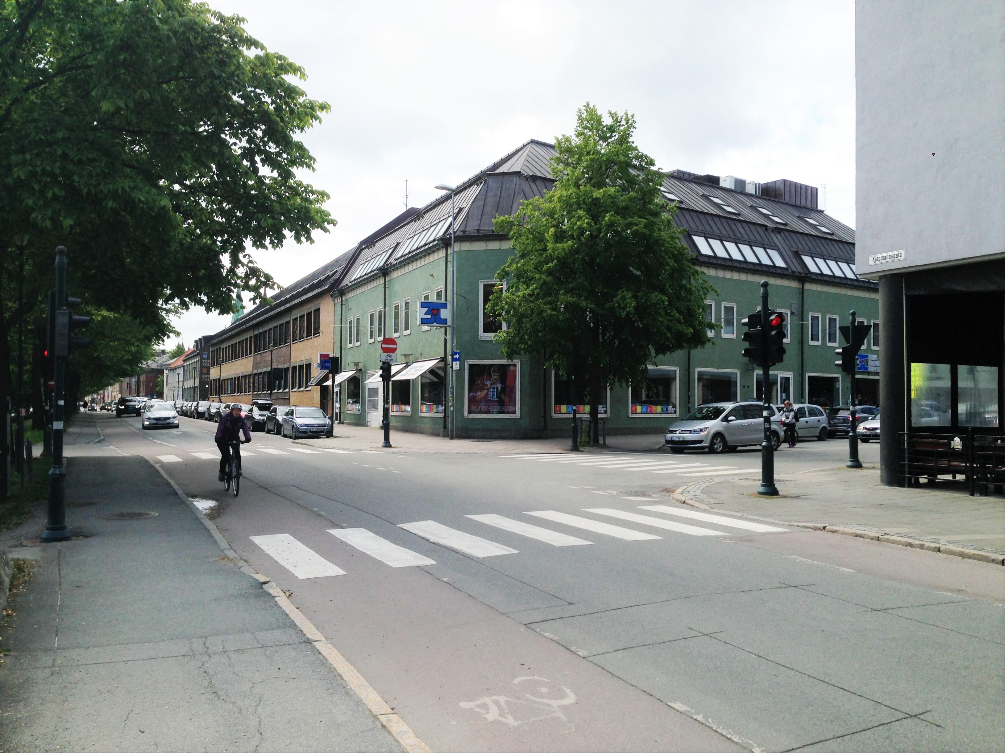 Forte Fondsforvaltning holder til i toppetasjen av denne bygningen i Kjøpmannsgata 32 i Trondheim. FOTO: Kent Øksnes