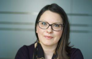 Pressekontakt Marika Burvald i Folketrygdfondet. Foto: CF Wesenberg/ Kolonihaven